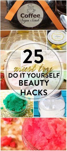 A collection of 25 DIY Beauty Ideas that you can do at home. Most likely you have all the ingredients already, right in the privacy of your kitchen.