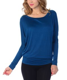 Another great find on #zulily! Teal Dolman Top by Bellino #zulilyfinds