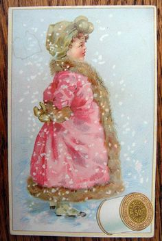 Victorian J P Coats Thread Trade Card (late 1800's)