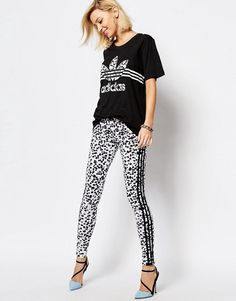9d94bc80b3fff Cost-effective Women Adidas Originals 3 Stripe Leggings In Inked Print  (Multicolour), best sale
