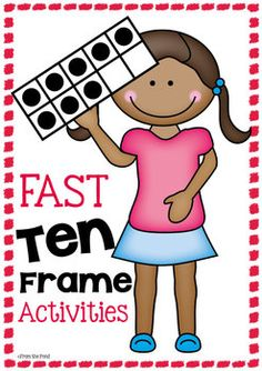Ten Frames, fast and fun! We have bundled up 20 fun and fast activities to help your students become familiar with ten frames. The activities are . Preschool Math, Math Classroom, Kindergarten Activities, Fun Math, Math Games, Classroom Activities, Teaching Math, Teaching Ideas, Classroom Ideas
