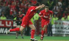 Vladimir Smicer after scored a goal