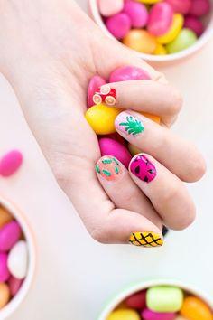 35 Very Beautiful Nail Art Nail Designs Nail Art Fruit, Watermelon Nail Art, Beautiful Nail Designs, Beautiful Nail Art, Nail Art Designs, Triangle Nail Art, Diy Ombre, Nail Polish Art, Nail Photos