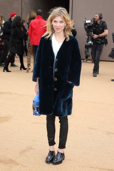 clemence poesy at Burberry Prorsum - Fall 2015 Ready-to-Wear