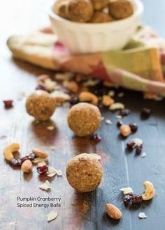 Pumpkin Cranberry Spiced Energy Balls   Nutritious Eats