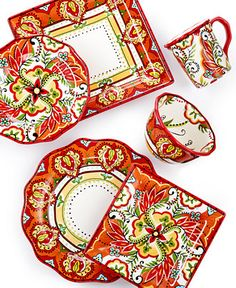 Espana Bocca Red Dinnerware Collection - Clearance - For The Home - Macy's