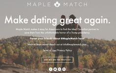 Maple Match Helps US Singles Fleeing Trump Find Love In Canada