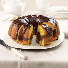 Two classic fall flavors, pumpkin and chocolate, come together in a cake to be shared with family and friends.