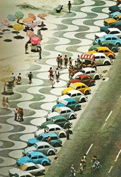 Copacabana anos 1970  Fuscas cariocas