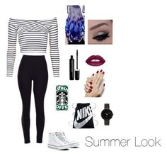 """Summer Look❤️☀️"" by cathou-look on Polyvore featuring mode, Topshop, Converse, NIKE, Samsung, I Love Ugly et Marc Jacobs"