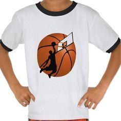 SOLD ! #SlamDunk #Basketball Player w/Hoop on Ball Tshirt shipping to Hollywood, FL #sports