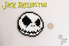 Jack Skellington Inspired Perler Bead Art. $8.00, via Etsy.