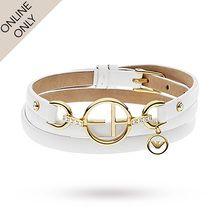 Emporio Armani Jewellery Ladies' Sterling Silver & Leather Bracelet