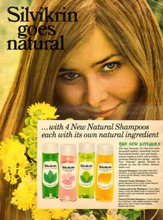 Hair Products, Pure Products, 1960s Hair, Natural Shampoo, Going Natural, 1960s Fashion, Vintage Hairstyles, Hair Care, Hair Beauty