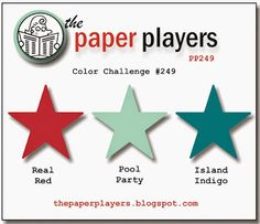 Stampin' Up! Color Inspiration: Real Red, Pool Part, Island Indigo