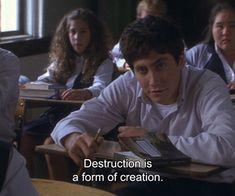 Jake Gyllenhaal in Donnie Darko Series Quotes, Film Quotes, Sad Movie Quotes, Donnie Darko Quotes, Donnie Darko Tattoo, Indie, Movie Lines, Quote Aesthetic, Film Stills