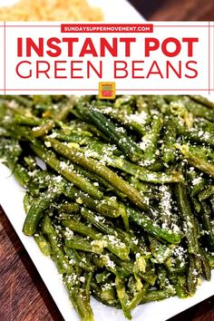 Buttery, garlicky beans make a perfect side dish for everything from beef to fish - that's these Instant Pot Garlic Butter Green Beans! Ready in under 5 minutes and so delicious, with garlic butter sauce and Parmesan cheese. #SundaySupper #garlicbuttersauce #garlicbutter #greenbeans #greenbeanrecipe #greenbeansrecipe #greenbeanrecipes Good Green Bean Recipe, Fresh Green Bean Recipes, Best Instant Pot Recipe, Instant Pot Dinner Recipes, Lemon Butter Chicken, Garlic Butter, Easy Shredded Chicken, Garlic Green Beans, Cooking Green Beans
