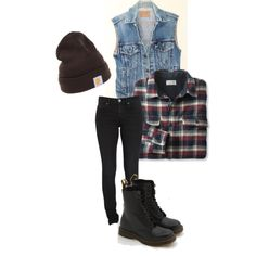 90's grunge by francestein on Polyvore featuring Dr. Denim and Carhartt