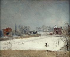 Giuseppe De Nittis - Winter Landscape [c.1880]