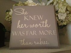 NEW She knew her worth was far more than rubies by OneChicShoppe, $28.00