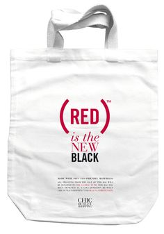 Chic Outlet Shopping® Announces The Launch Of A Limited Edition Product(Red) Tote Bag Designed In Collaboration With Helena Christensen As Part Of The (Red) Is The New Black Campaign Red Campaign, Red Tote Bag, Beautiful Bags, Reusable Tote Bags, Product Launch, Cool Stuff, Chic, Shopping, Black