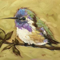 "Instagram media by alaveryart - 5x7"" oil on panel #hummingbirds #birdart #nature…"