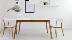 Aver Oak and White Extending Dining Table £349.00