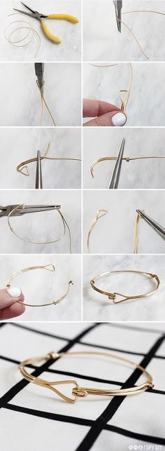 STEPS | Triangle Wire Bracelet | I SPY DIY