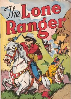 "Golden Age Western Comics on DVD Hero of Heroes ""The Lone Ranger"" complete all issues Comic Books on DVD are scanned/digital version of comics that can be viewed on computers with viewing software. Vintage Book Covers, Vintage Comic Books, Vintage Comics, Comic Book Covers, Comic Books Art, Comic Art, Vintage Magazines, Children's Books, Book Art"