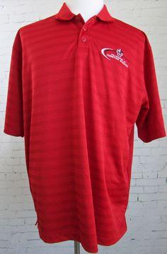 Men's Adidas Fellowship of Christian Athletes FCA Golf Polo Shirt Red XL