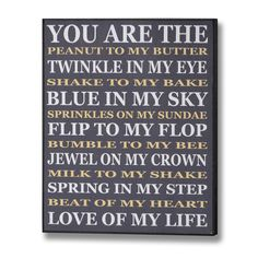 You Are The Peanut To My Plaque   From Baytree Interiors