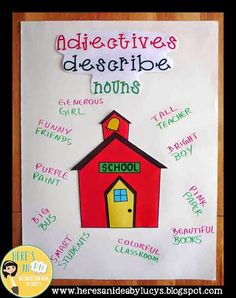 ADJECTIVES Anchor Chart Idea AND an easy way to make your anchor charts look good!