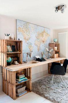 World Traveler Wooden Work Desk Pallet Furniture