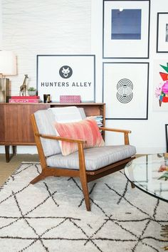 """ruemag:  We step inside the brand new Hunters Alley """"den."""" (SPOILER ALERT: It's the cutest office EVER.)"""