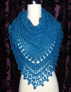 Jenny's Faith shawl in teal