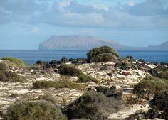 The island of Alegranza form northern Lanzarote, Canary Islands
