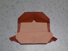 """折り紙のキャラクター ペコちゃんの簡単な髪の折り方作り方 """"Character"""" Origami - YouTube"""