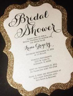 Bridal Shower Invitation - Glitter Bridal Shower Invitations