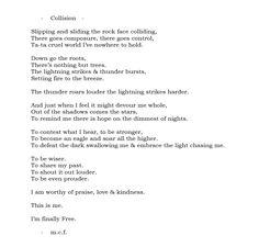 #collision #m.c.f #poetry