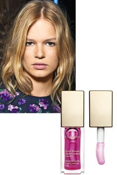 Clarins's new lip treatment is formulated with a trio of oils (hazelnut, mirabelle, and jojoba) to hydrate lips and make them look fuller. Layer it on before lipstick. Clarins Instant Light Lip Comfort Oil in Raspberry, $23, macys.com.