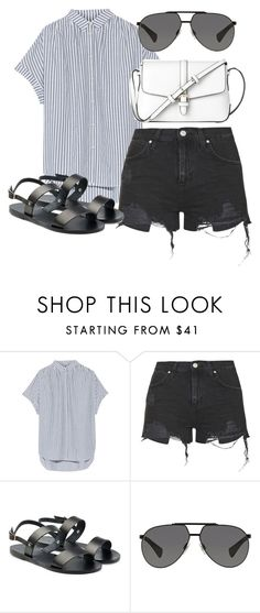 """""""Untitled #178"""" by c-grivers ❤ liked on Polyvore featuring Madewell, Topshop, Ancient Greek Sandals, Dolce&Gabbana and L.K.Bennett"""
