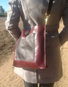 Leather tote bag by kingstreetcollars on Etsy, $65.00