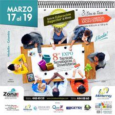 ¡En ESCOLME viviremos tres dias de EXPO feria para dar a conocer nuestros programas académicos!