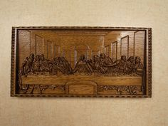 Leonardo da Vinci, The Last Supper Wall Decor, 3D Wood Carving - pinned by pin4etsy.com