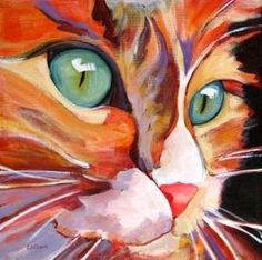 """CATS EYES"" FROM OREGON ARTIST CAROLEE CLARK"