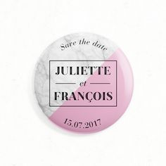 "Wedding magnet as save the date, thank you or gift - ""Marble"", white marble, pink, chic, elegant - Paper and Love  __  Magnet de mariage aimanté comme save the date, cadeau ou remerciements - ""Marbre"", marbre blanc, rose, chic, élégant - Paper and Love - www.paperandlove.be"