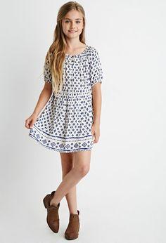 Girls Abstract Print Dress (Kids) | Forever 21 girls - 2002247868