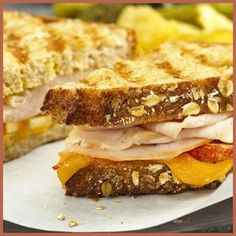 Cannot wait for the season of leftovers-Leftover Turkey, Apple, and Cheddar Panini Recipe