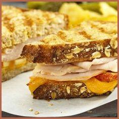 Leftover Turkey, Apple, and Cheddar Panini Recipe