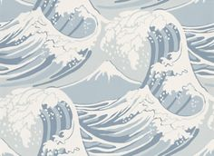 Wallpaper Cole & Son - Frontier - Great Wave - at miss-marple.nl